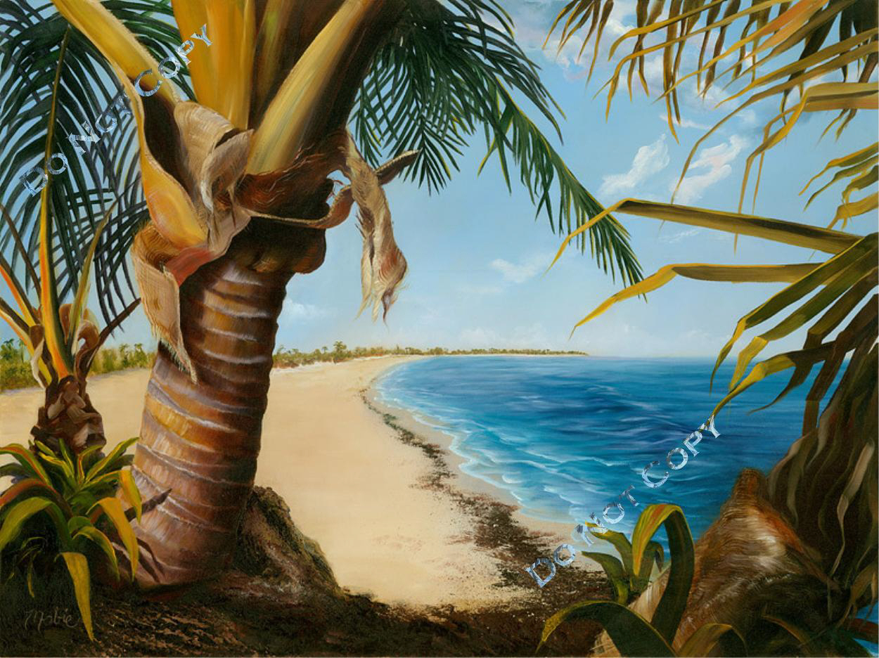 Painter of emotion for Painting palm trees